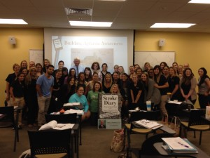 6-30-2015 UCF Speech Language Masters class, Aphasia House, Orlando, Florida